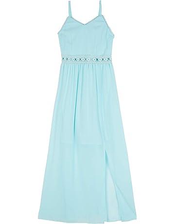 eccd6470ffa5 Amy Byer Girls' Big Sleeveless Maxi Dress with Lace Waistline