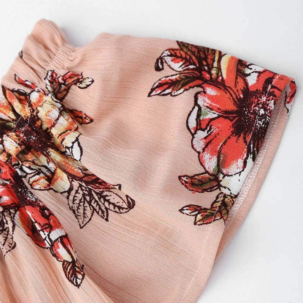 Rambling Two Piece Floral Women Off Shoulder Printed Tops Casual Beachwear Crop Tops Set