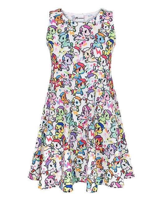 Tokidoki - Vestido - Sin mangas - para niña Multicolor multicolor 7-8 Años