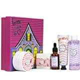 Gift Box for Women - Bath Set for Women,Women Gifts Includes Body Butter, Hand Cream, Shower Gel, Massage Oil, Bath Bar…