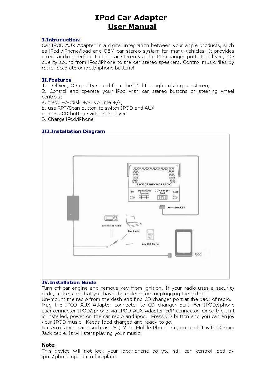Nissan Ipod Iphone Car Integration System Kit Module Primera Central Locking Wiring Diagram Radio Adapter Aux Auxilary Interface Fits 350z Almera Maxima Murano Navara Note