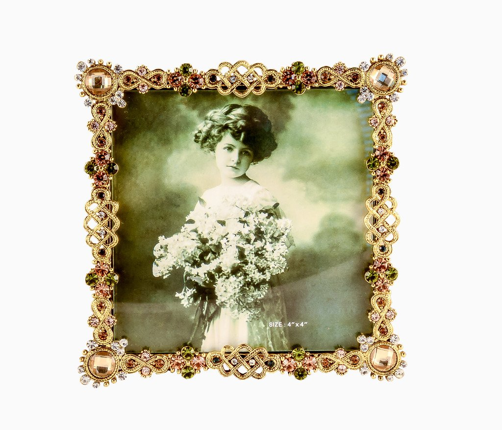 Amazon ciel collectables decorative hanna picture frame with amazon ciel collectables decorative hanna picture frame with hand set green topaz swarovski crystal gold plating over solid pewter base black velvet jeuxipadfo Choice Image
