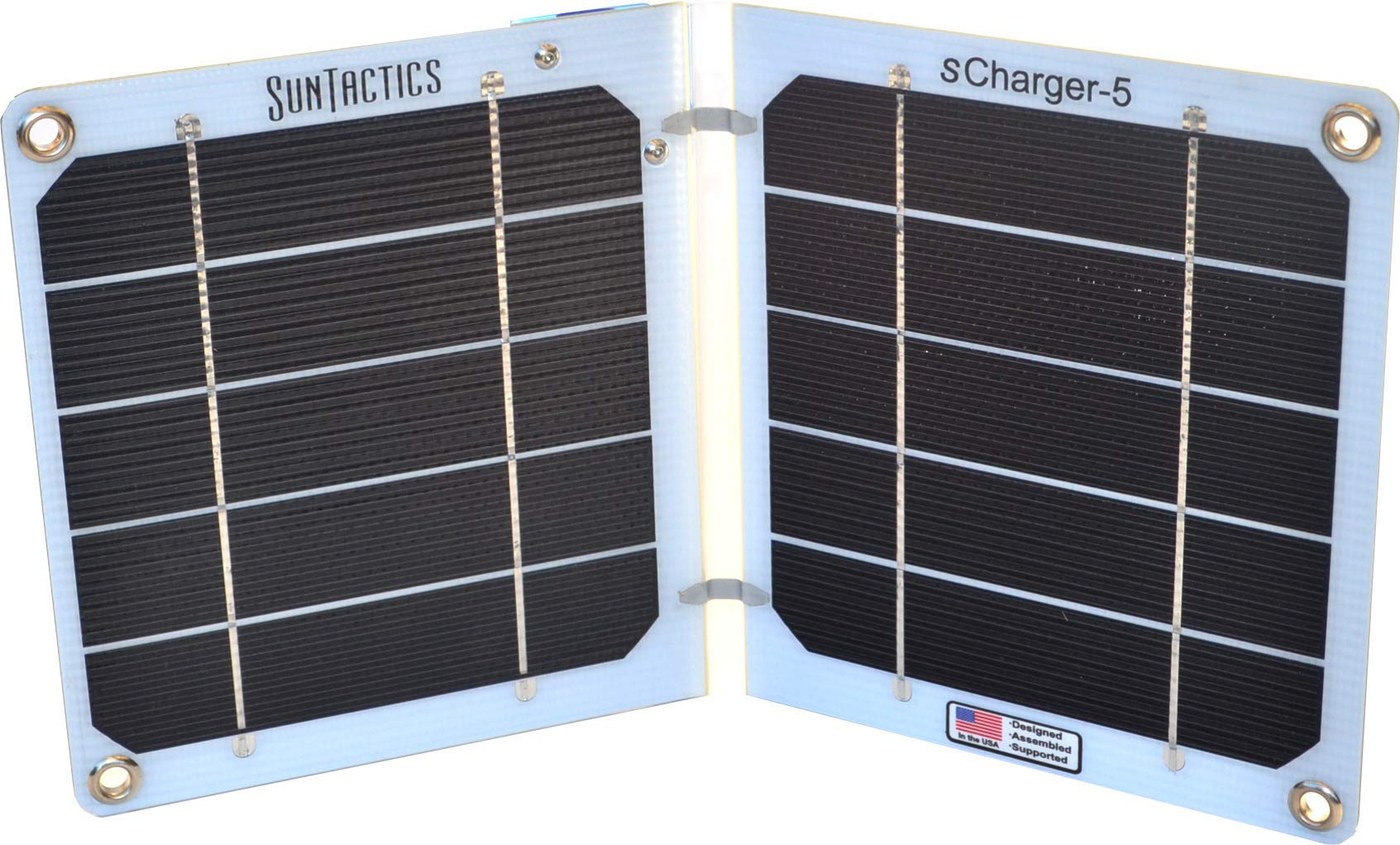 Suntactics S5 Ultralight Solar Charger, Quick Charge Phones, Power Banks and Many Other USB Devices Using Only The Sun! Assembled in The USA by Suntactics