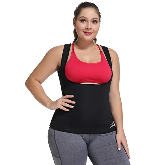 0d0bc300e Waist Trainer Corset for Weight Loss Plus Size Workout Sweat Vest for Women  Slimming Body Shaper
