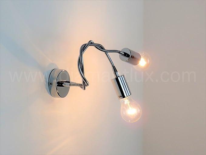 Lampada parete applique flessibile e moderno illuminazione
