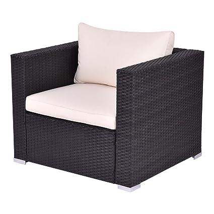 Amazon.com: Juego de muebles de mimbre para el aire libre ...