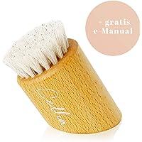 CELLIA Gesichtsbürste zur Trockenbürsten Massage, Peeling sowie Reinigung |100% Natur-Borsten | regionales, FSC-zertifiziertes Buchen Holz | dry brush face |Trockenbürste Gesicht| hergestellt in DE