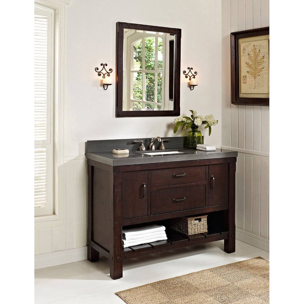fairmont designs 48 inch napa open shelf vanity aged cabernet tools products amazoncom