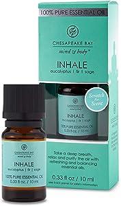 Chesapeake Bay Candle 100% Pure Essential Diffuser Oil, 10ml, Inhale (Eucalyptus Fir Sage)