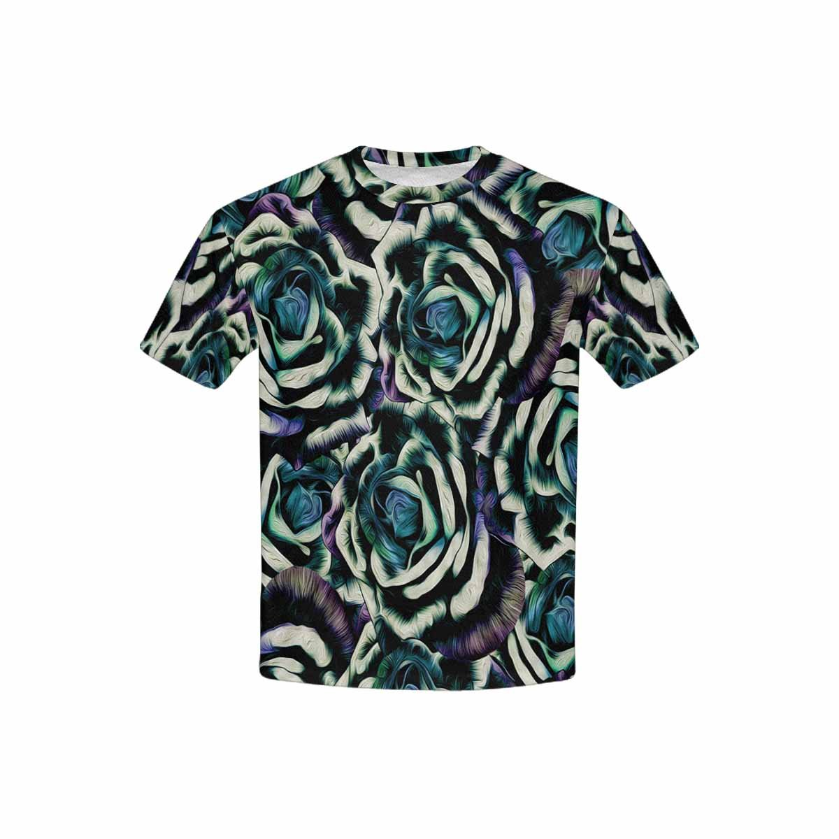 INTERESTPRINT Kids T-Shirts Rose Flowers XS-XL