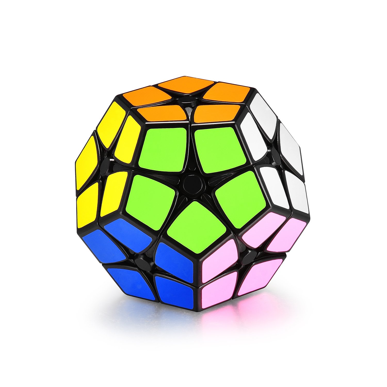 Speed Cube | 2x2 Stickers Megaminx Cube Puzzle | Smooth Kilominx Brain Teasers toys | 12 Colors Stickers Dodecahedron Magic Cube | Black