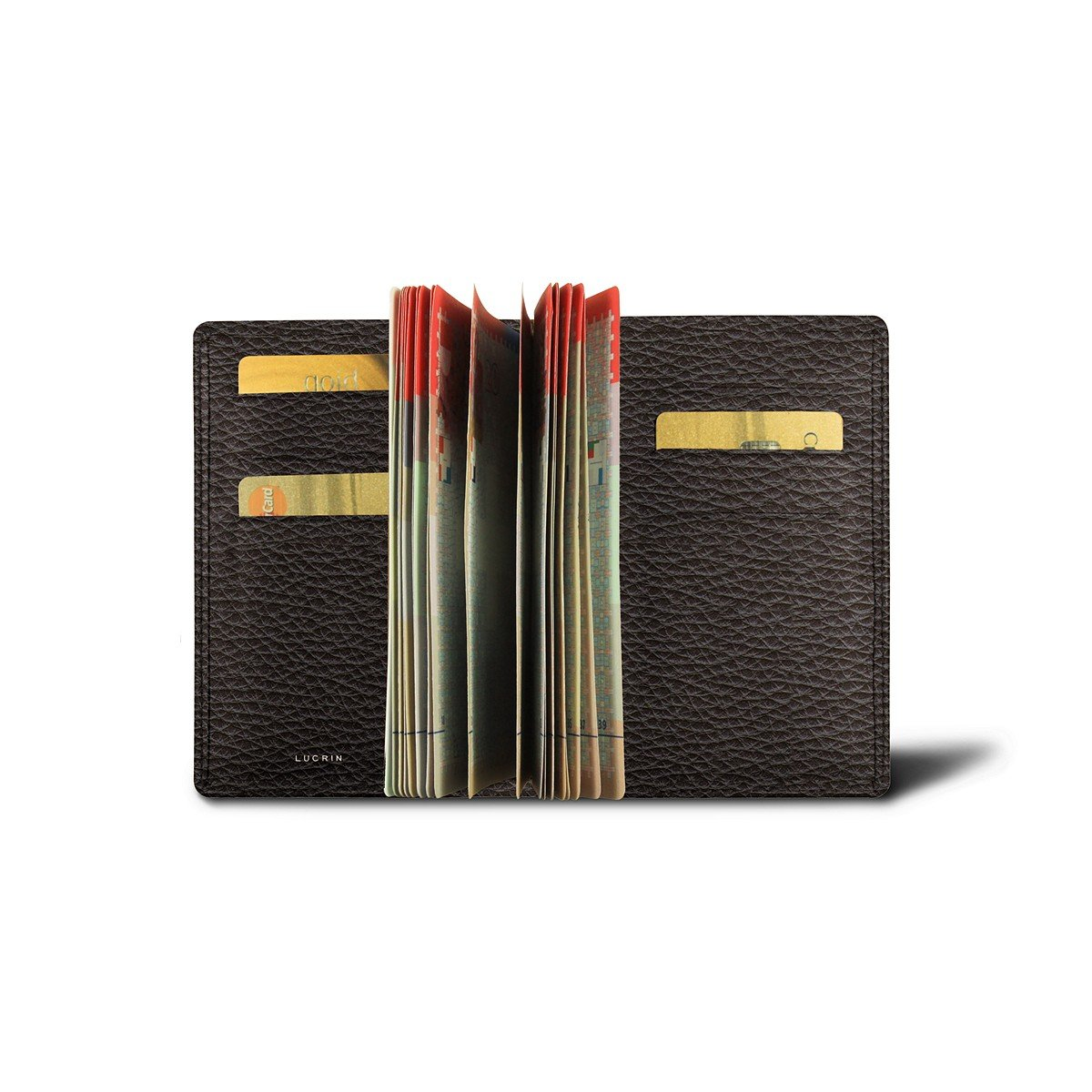 Lucrin - Luxury Passport Holder - Brown - Granulated Leather
