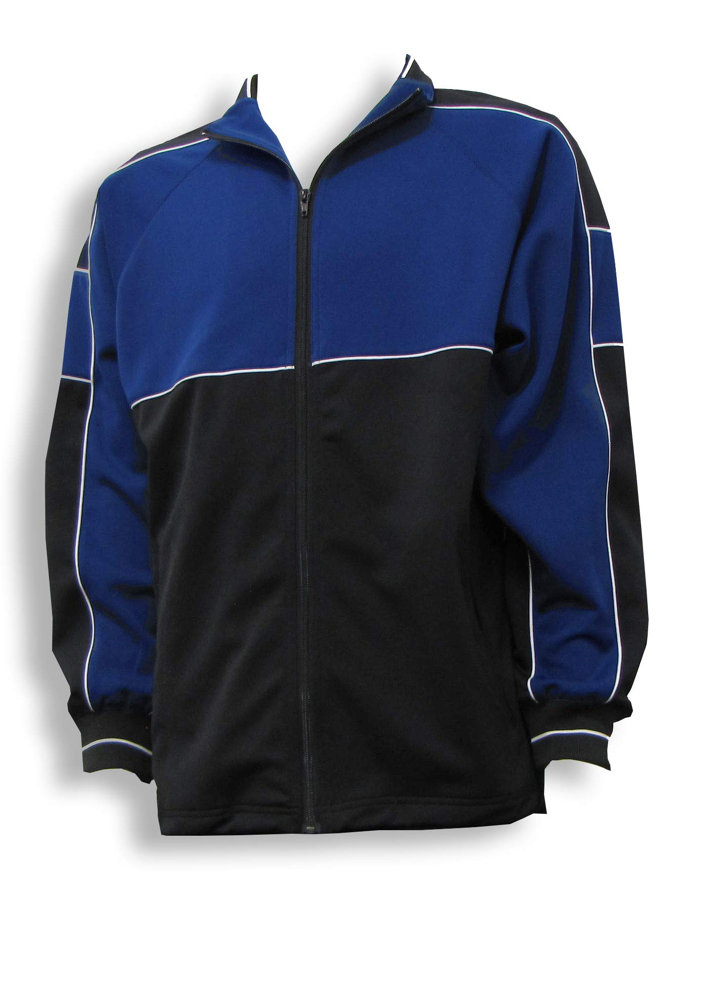 Code Four Athletics Sparta Soccer Poly-Knit Warmup Jacket - Size Adult M - Navy/Black by Code Four Athletics