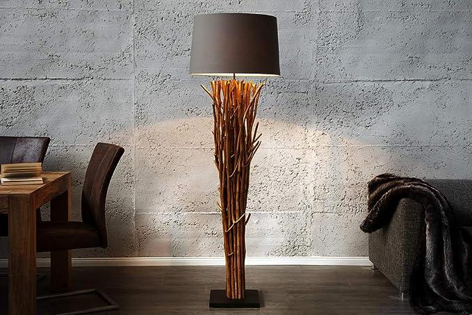 Invicta Interior Riesige Design Treibholz Stehlampe EUPHORIA 180cm grau  braun Handarbeit