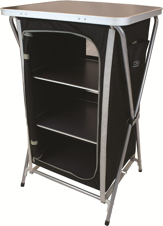 Highlander Easy Fold 3 Shelf 600D Polyester Camping Cupboard