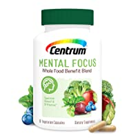 Centrum Mental Focus Nootropic Supplement, with Spearmint Extract and B-Vitamins...