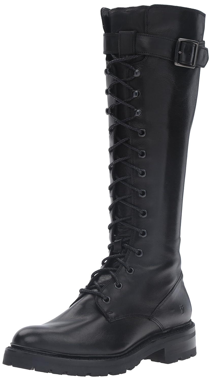 FRYE Women's Julie Lace Tall Combat Boot B01BLZ4ERM 10 B(M) US Black