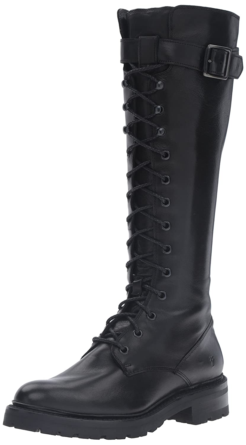 Black Frye Womens Julie Lace Tall Combat Boot