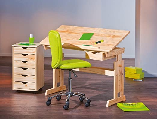 Interlink IDIMEX Juego de Mesa Julia + Roll Container Nils + Silla ...
