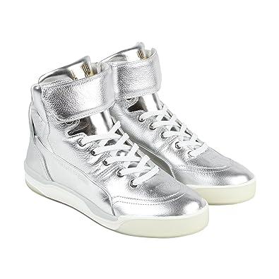 d4a3f2d97329 PUMA MCQ Move Mid Mens Metallic Mens Silver Leather High Top Sneakers Shoes  (8