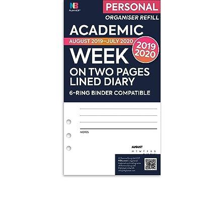 NBplanner® Academic 2019-2020 - Agenda con dos páginas para agenda ...