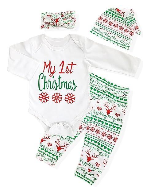 Amazon.com: Navidad bebé niños niñas Mi primera Navidad ...