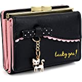 UTO Women's Trifold Wallet Cute Kitty Bowknot Card Holder Small Coin Purse 172