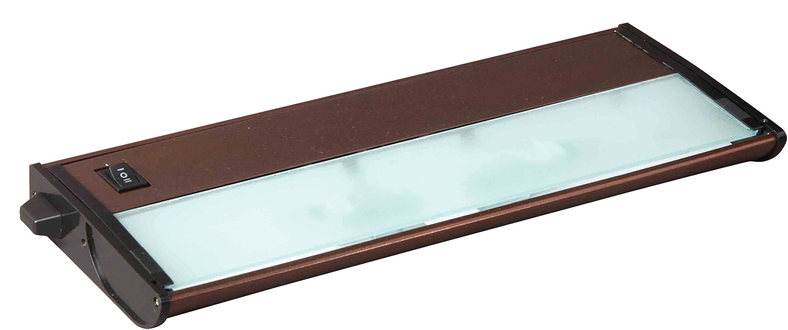 Maxim 87841MB CounterMax MX-X120c 13'' 2-Light 120V Xenon, Metallic Bronze Finish, Glass, G8 Xenon Xenon Bulb , 50W Max., Damp Safety Rating, 2900K Color Temp, Standard Dimmable, Glass Shade Material, 800 Rated Lumens