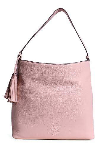 8922e184ca0 Amazon.com  Tory Burch Thea Leather Hobo Bag