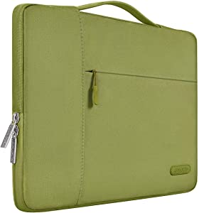 MOSISO Laptop Sleeve Compatible with 13-13.3 inch MacBook Air, MacBook Pro, Notebook Computer, Polyester Multifunctional Briefcase Carrying Bag, Capulet Olive
