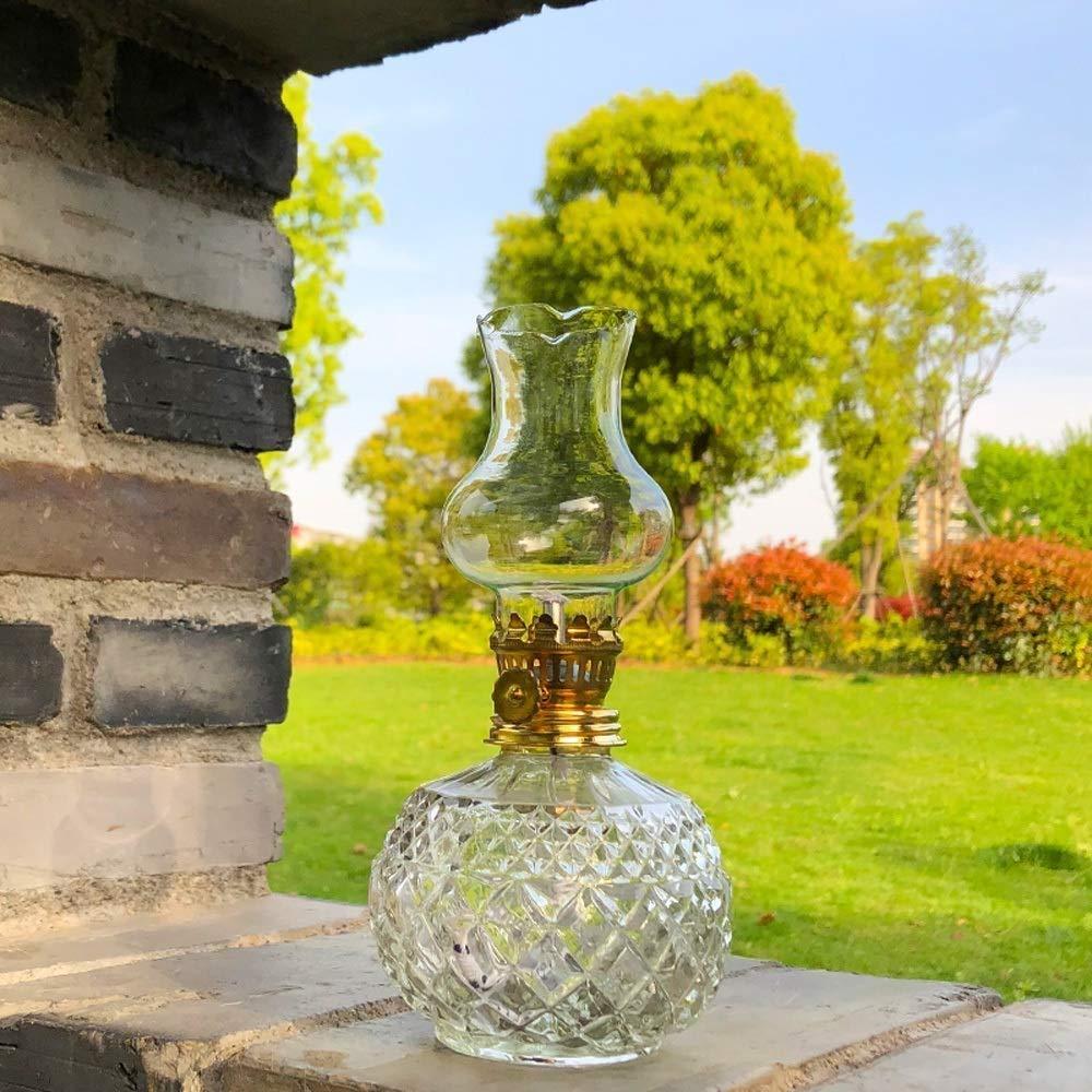 SDK L/ámpara de Aceite Inicio Luz de Emergencia Luz de Corte de energ/ía Antigua L/ámpara de Queroseno Cuerpo Redondo Mantequilla L/ámpara para Buddha Light Accesorios Vintage