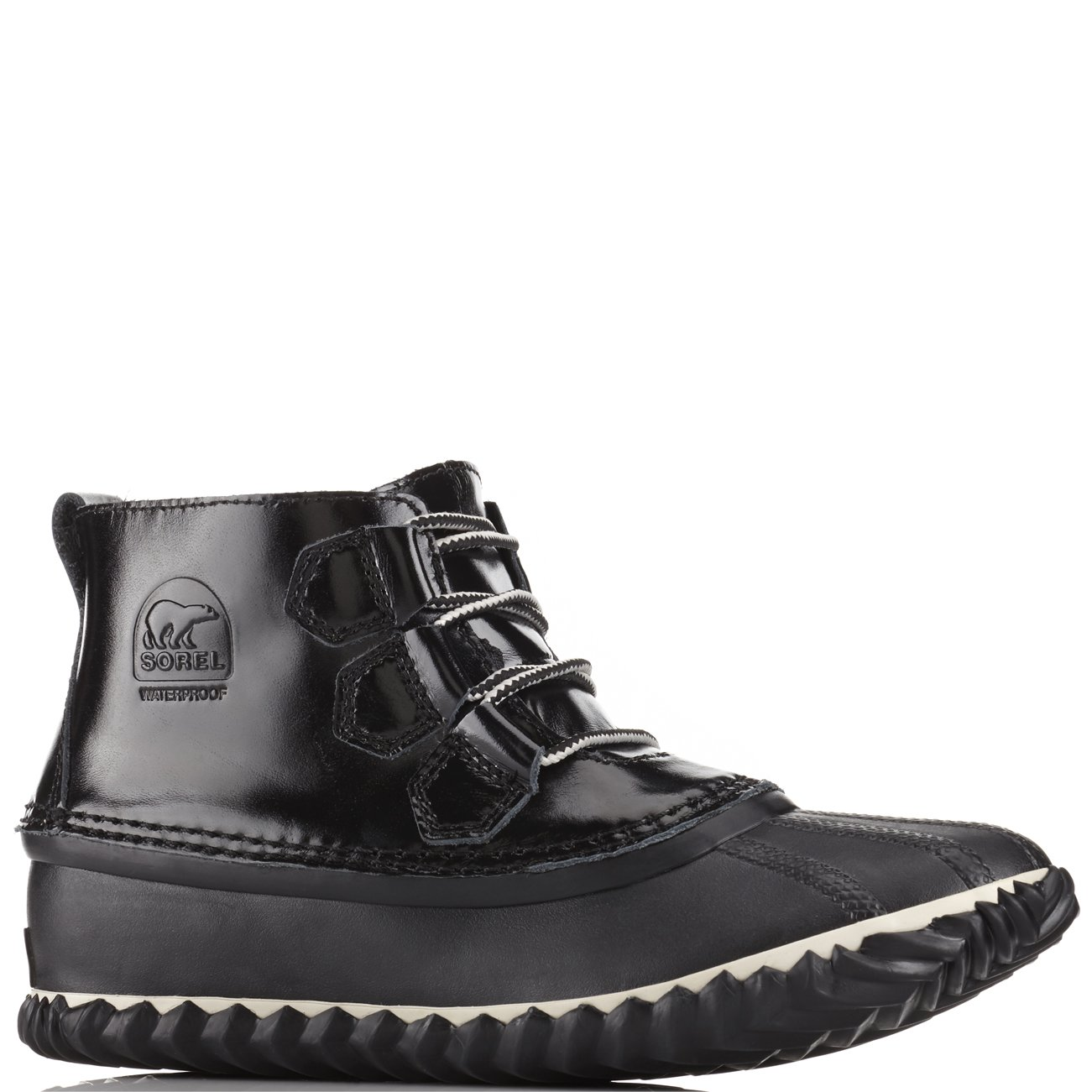 Sorel Women's Out N About Black/Noir Ankle-High Leather Rain Boot - 9M