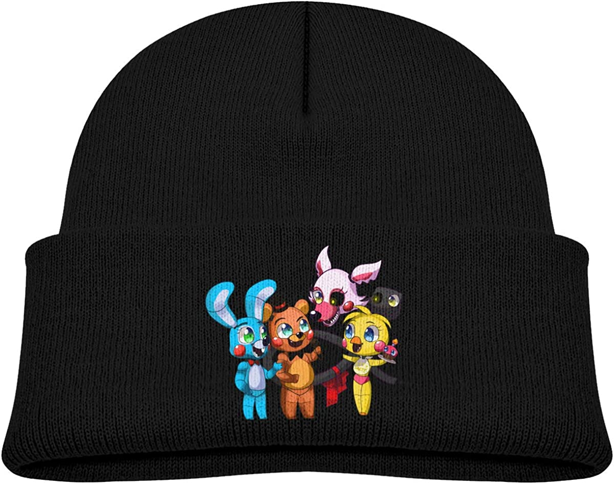 Five Night at Freddys Kids Thick Soft Warm Slouchy Baby Knit Hat for Toddlers Boys /& Girl Winter Soft Ski Cap