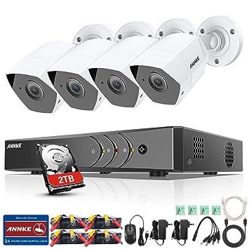 Annke TVI 1080P DVR kit de vigilancia 8 canales 4 * 1080P ...