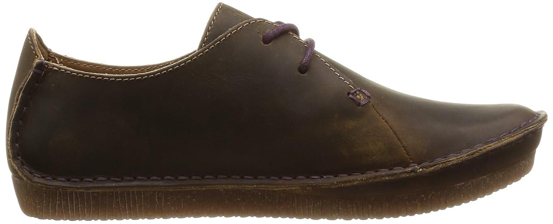 Clarks Janey Mae - Zapatos con Cordones de Cuero Mujer, Color Marrón, Talla 42