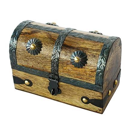 Nautical Cove Treasure Chest Keepsake And Jewelry Box Wood   Toy Treasure  Box