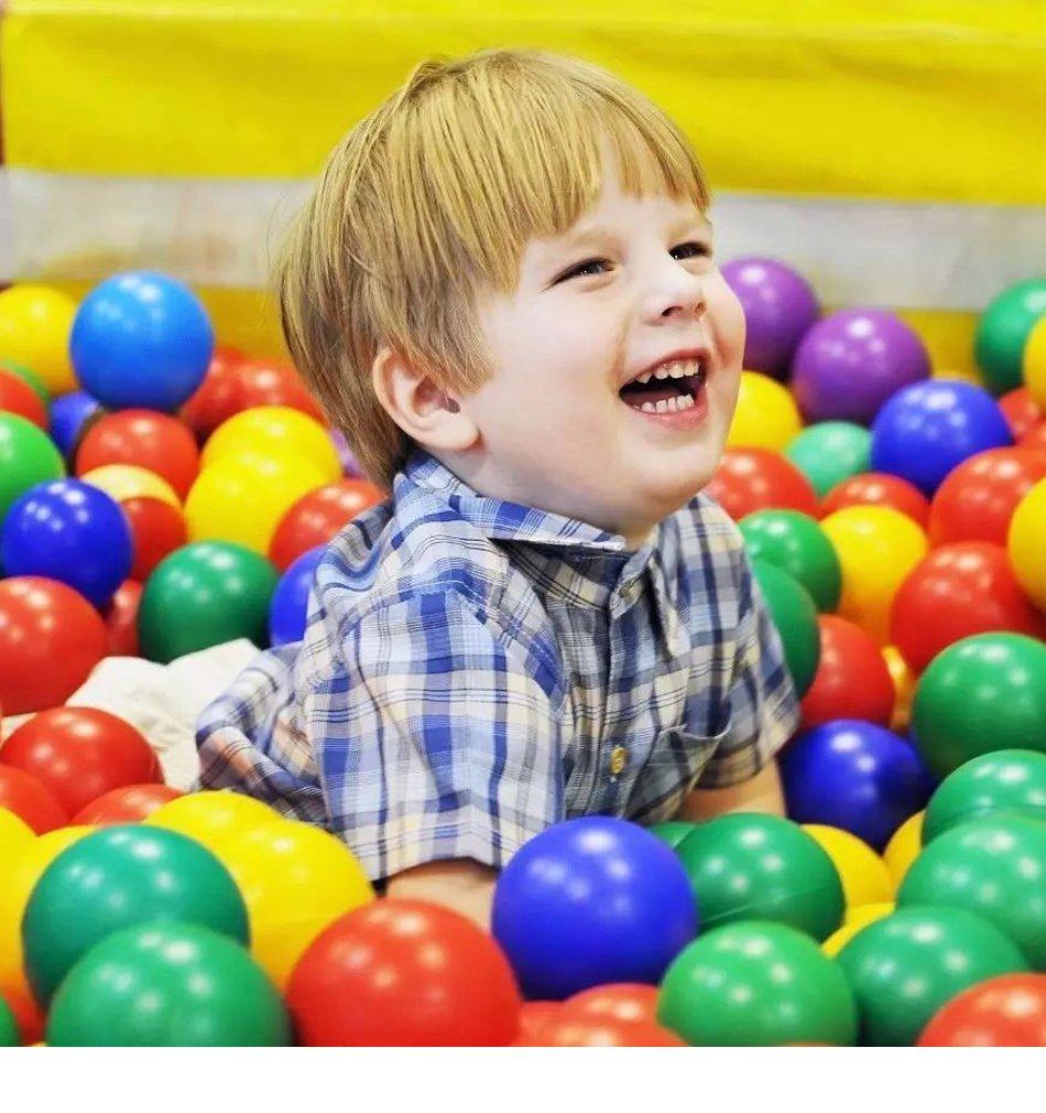 Mazhashop 100pcs Colorful Ball Fun Ball Soft Plastic Ocean Ball Baby Kid Toy Swim Pit Toy(5.5CM)
