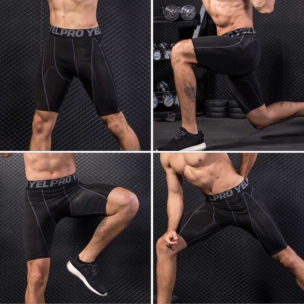 Lixada Herren 3er Pack Performance Kompressionsshorts Active Workout Unterw/äsche Base Layer Strumpfhosen Kurze Leggings