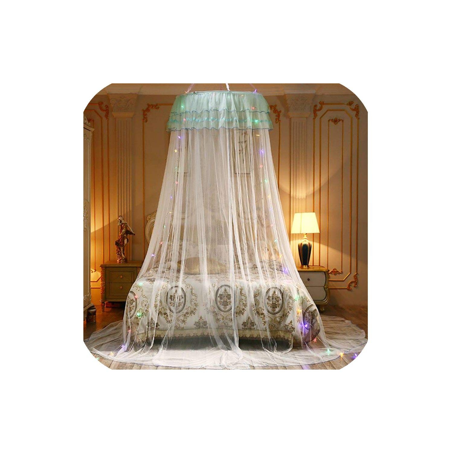 Elegant Canopy Mosquito Net for Double Bed Mosquito Repellent Tent Insect Reject Canopy Bed Curtain Bed Tent,5