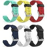 Garmin Forerunner 235 Watch Band, MoKo [6 PACK] Soft Silicone Replacement Watch Band for Garmin Forerunner 235 / 220 / 230 / 620 / 630 / 735 Smart Watch, 6PCS (Multi-Colors)
