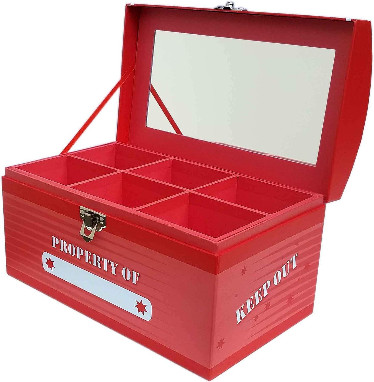 My Tiny Treasures Box Co. Caja de Tesoros para niños, tamaño Grande, Color Rojo: Amazon.es: Hogar