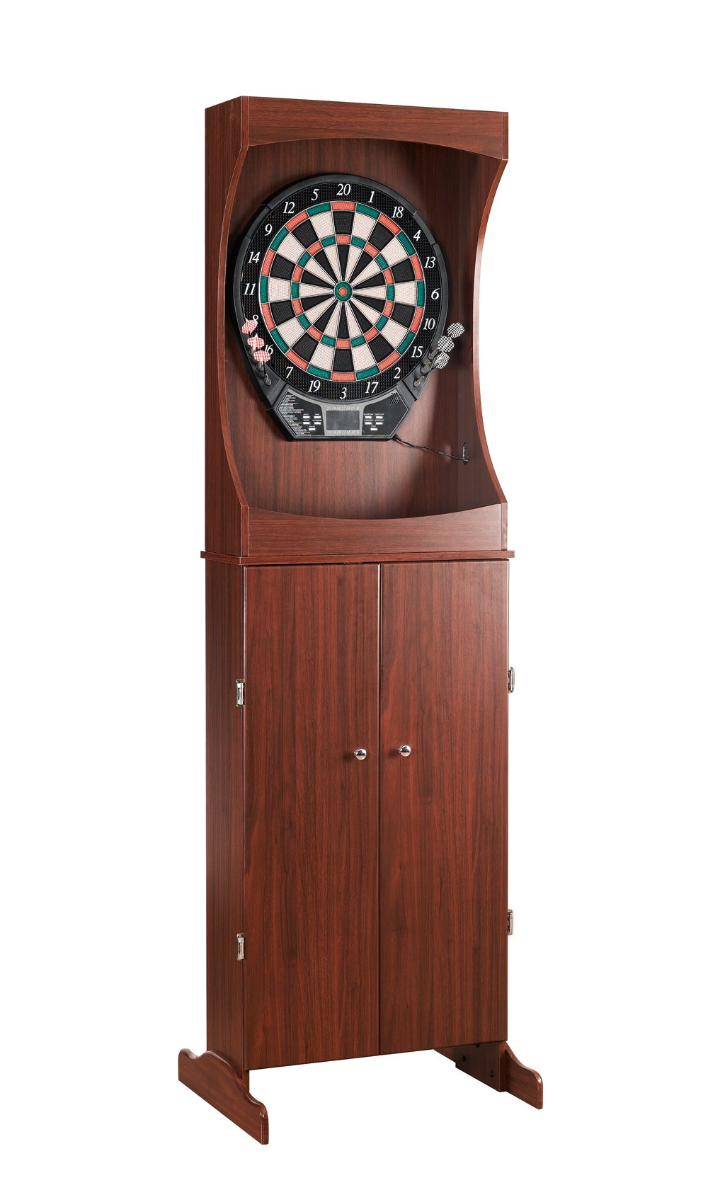 Carmelli NG1040 Outlaw Free Standing Dart Cabinet Set with Electronic Scoring
