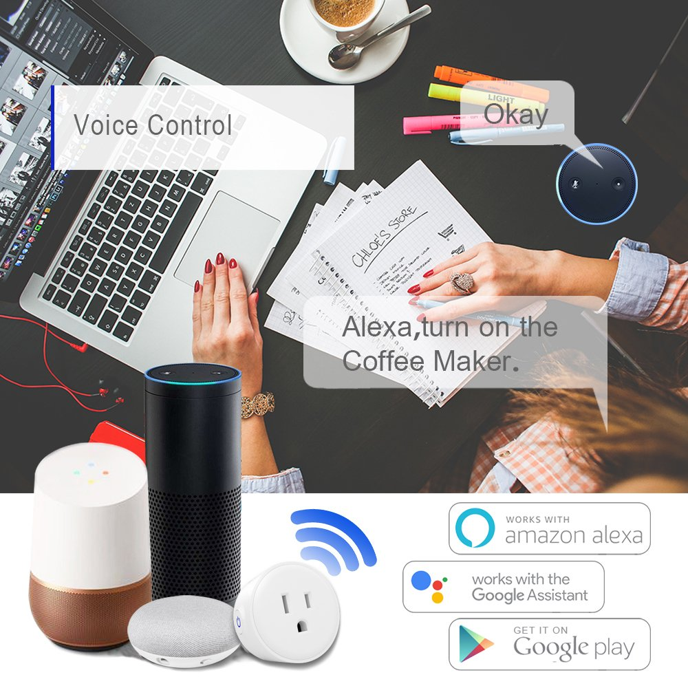 Single-Pole Only Neutral Wire Required Smart WiFi Light Switch Compatible with Alexa and Google Home Suit for 1//2//3//4 Gang Switch Easy in-Wall Installation by LUMIMAN 2 Pack