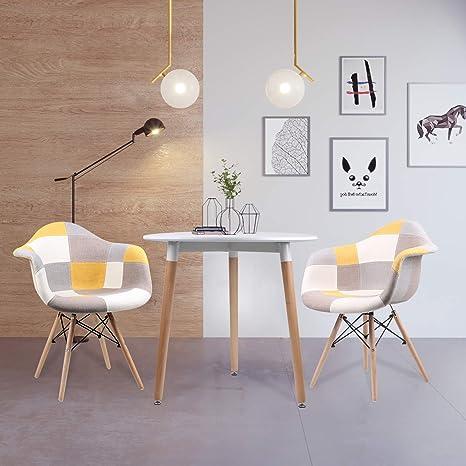 Jesfuerzdoutlet - Juego de 2 sillones de Madera con diseño ...