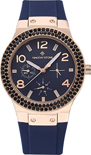 Timothy Stone collection FAÇON SPORT - reloj mujer de cuartzo, color Oro Rosa/Marino: Amazon.es: Relojes