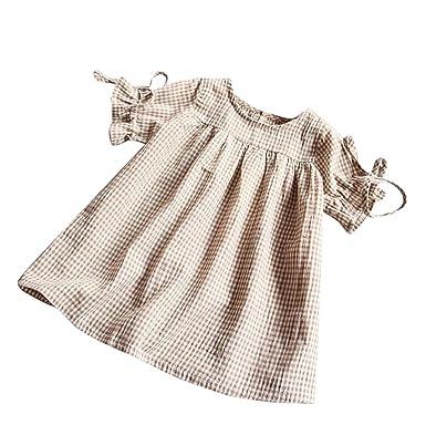 b69efa32f33bf Oyedens Fille 2 à 7 Ans Vetement Fille Robe Bebe Fille Treillis Robe De  Princesse Fille