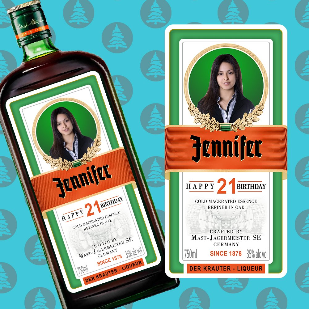 Amazon.com: Personalised Jagermeister Label Jager label Bottle label Jagermeister bottle Alcohol gifts label Gift for husband on happy birthday: Handmade