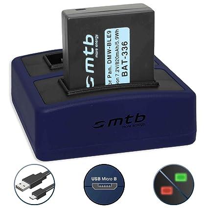 Batería + Cargador doble Compact (USB) para DMW-BLE9(E ...
