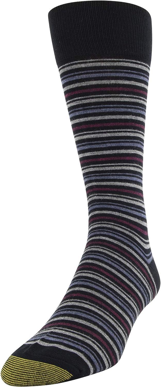 Gold Toe mens Multistripe Crew Socks 3 Pairs Dress Sock