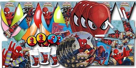 Spiderman de cumpleaños infantil procos XXL: Amazon.es: Hogar